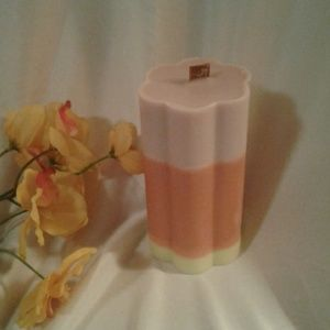 Handmade Wood Wick 3-Layer Soy Pillar Candle